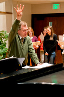 Brother Randall Kempton teaches and conducts his Collegiate Singers Choir.
