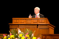 Devotional guest speaker, Elder Spencer J. Condie, speaks about prophets.