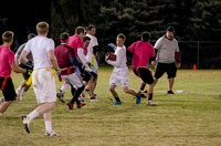 BYU-Idaho students play flag football with the rec sports program on BYU-Idaho campus