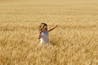 Children in the wheat fields