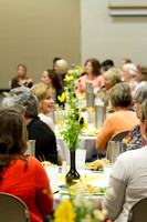 Sister faculty members across campus gather in the Taylor Cultural Hall for a luncheon during the 2014 Spring Semester.