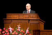 Elder Russell M. Nelson Introduces new BYU-Idaho President, Clark Gilbert. Photo by Katelyn Crompton