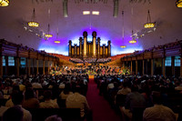 Many came to view the Sacred Music concert performed by Brigham Young University-Idaho's orchestra and choir. Photo by Ryan Chase
