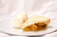 Apple pie and ice cream.