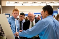 Students display and present their Research & Creative Works in the Manwaring Center.