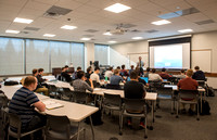 Jody Swenson teaches a class in the new Science and Techonolgy Center.
