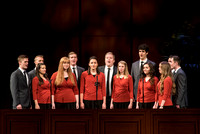 Vocal Union, an a cappella group sing at BYU-Idaho's devotional. Photo by Ryan Chase