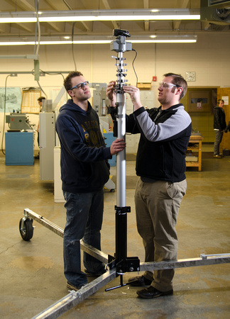 Mechanical engineering students design a tripod for a local soccer team to videotape practices.