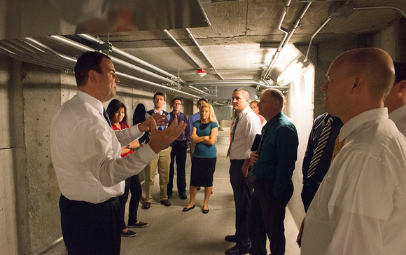 Tunnels under the BYU-Idaho Center. New employees get a tour of the BYU-Idaho Center.