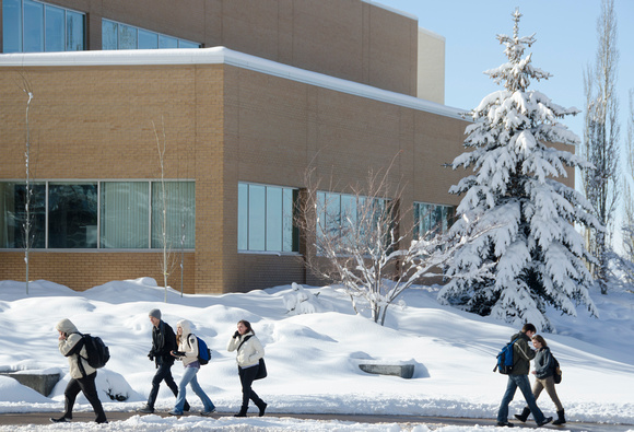 A major winter storm dumped eight to ten inches of snow over two days leaving campus in a blanket of white.