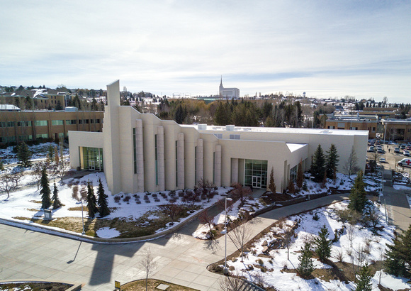 Taylor Building and Rexburg Temple