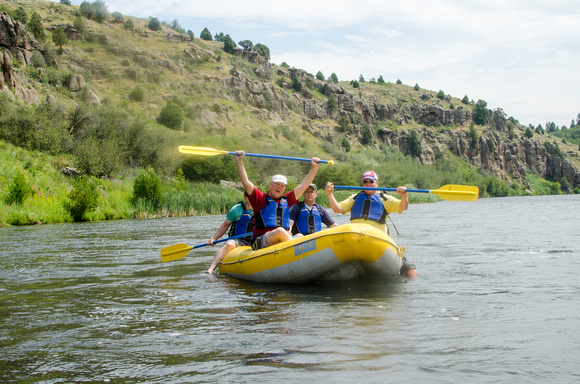 University Communications team Retreat rafting Warm River to Ashton Reservoir.