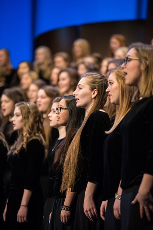 Women's Glee Choir sings for Devotional.