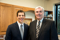 Henry Christian Eyring meets with his former professor, Ed Sexton.