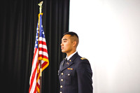 2LT Bloomfield stands proudly during the Commissioning Ceremony, after receiving his 2LT pin.