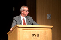 BYU-Idaho faculty are shown apprceiation at a banquet.