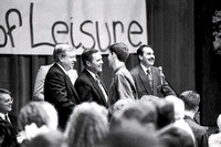 The Business of Leisure ceremony of the Business Department. Reception held in the Manwaring Center Ballroom. March 1994.