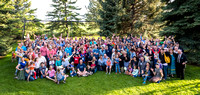 Pathway Worldwide employees and their families gather for a social in Rexburg. 2017