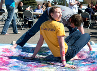 Students at Brigham Young University-Idaho participate in various activities and games dealing with color.
