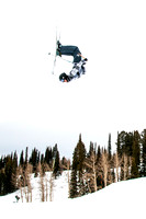 Photographs taken on Grand Targhee during the snowboarding class.