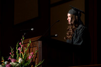 Convocation for College of Language and Letters.  Scripture reading by Sarah Jones, International Studies