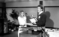 Award recipient. Faculty Michael Farnsworth. March 1988
