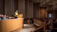 Sister Rosemary Wixom, former general Primary president, gives a fireside for female employees of BYU-Idaho.
