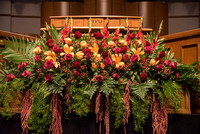 The Floral Arrangement for Inauguration.