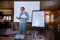 University Relations Communications, Creative Services retreat at the Sky Mountain Lodge near Victor, Idaho.  Samuel Clay & Yohan Delton of the Psychology Department gave a presentation on dealing