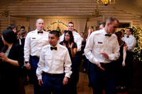 Cdts from BYU-I gather at The Loft, just south of Rigby, to enjoy a night of dinner and dancing at the Army ROTC Military Ball.