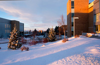 BYU-Idaho campus after a winter storm.