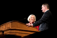 BYU-Idaho Devotional. Guest Speaker, Neill F. Marriott invites a student to share an experience. Feb 2018