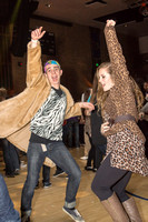 Students dance at an animal-themed dance party at in the Hart Gym.