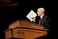 BYU-Idaho Devotional. President Henry J. Eyring asking student if they are ready to learn. Feb 2018