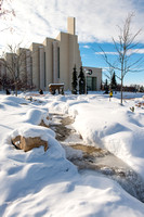 Winter day on campus.