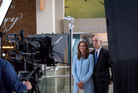 President and Sister Eyring on the set of a video shoot in Legacy Hall. 2017