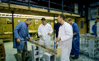 Construction Management students in the lab with Rudy Puzey. Jan 1998.