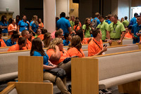 Student Support gathers for a Spirit Conference right before the Fall 2017 Semester begins.