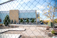 Construction is making progress in front of the BYU-Idaho Center.