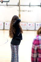 Students in an Archery class.