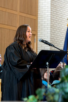 Kailey Anona Bingham performs the musical number at the College of Eduation and Human Development convocation.