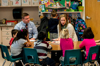 A Student Teacher, at Jefferson Elementary School in Rigby, Idaho, is evaluated by Jeff Pulsipher of the Teacher Education Department.