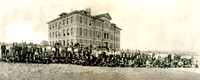 1910 Ricks Academy student body in front of Spori Building.