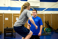 BYU-Idaho Personal Trainers work with students on their fitness goals.