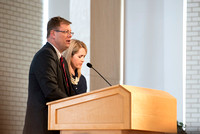 "President and Sister Gilbert teach a Foundations class about the ""The Family, A Proclamation to the World""."
