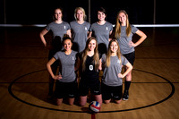 Wildcat Volleyball Team players: Terry Stump (#5), Halee Pearce (#1), Mical McKean (#9), Emily Graf (#2), Alexyss Houle (#10), Alexis Pearson (#4), Alexis Morrell (#0).