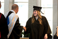BYU-Idaho students graduate from College of Eduation and Human Development convocation receive their diplomas.