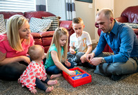 Adam Wickern the I.T. Man and his family for a video to help recruit Online Learning instructors.