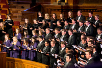 Brigham Young University-Idaho's men's and women's choir sing in the tabernacle at Temple Square for the Sacred Music concert. Photo by Ryan Chase