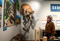 BYU-Idaho worked with the Teton Geotourism Center in Driggs, Idaho, creating a Wildlife and Geology exhibit of pieces from the Biology and Geology museums at BYU-Idaho. A ribbon cutting was held for a
